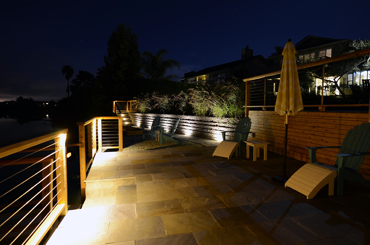 Waterfront Patio in Marin County